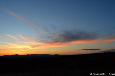 coucher de soleil Cévennes